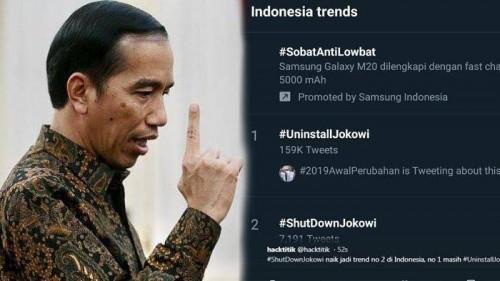 Ilustari mewabahnya tagar Uninstall Jokowi di medsos (Ist)