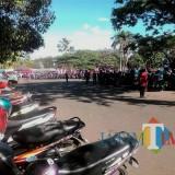Lahan parkir di Stadion Kanjuruhan yang bukan wilayah Dishub Kabupaten Malang. (Nana)