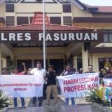 Aliansi Jurnalis Bangil mengadukan Misbakhun.