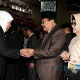 Khofifah saat Serah Terima Jabatan (Sertijab) Gubernur dan Wakil Gubernur Jawa Timur Masa Jabatan 2019-2024 dan Rapat Paripurna di Gedung DPRD Jatim