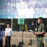 Komandan Kodim 0833 Kota Malang, Tommy Anderson saat memimpin apel gabungan rutin di Kota Malang. (Foto: Humas Pemkot Malang for MalangTIMES)