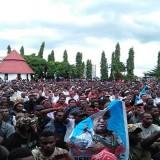 Unjuk rasa masyarakat Papua atas peristiwa yang dianggap mencemarkan nama baik Gubernur Papua oleh KPK (Ist)