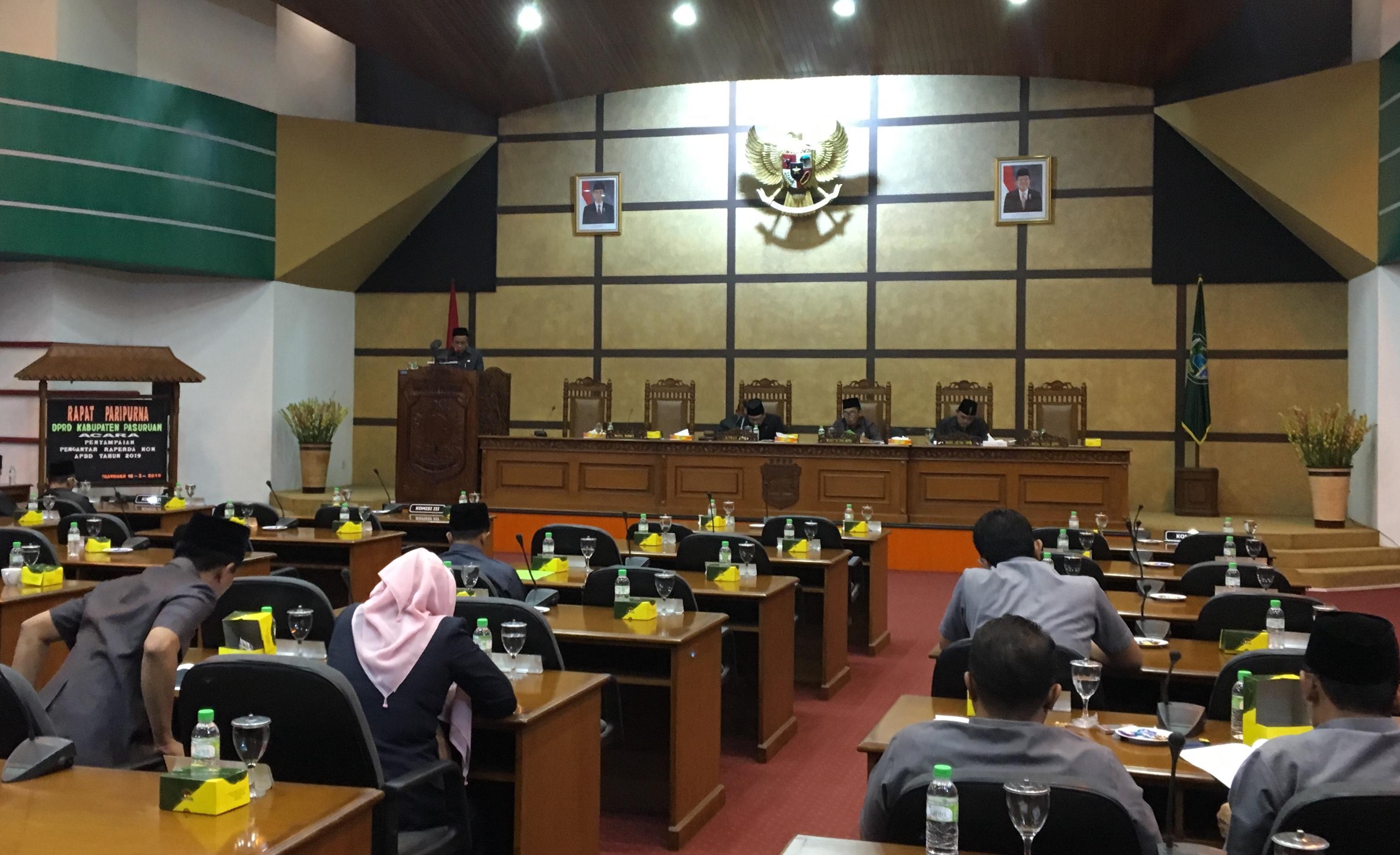Sidang paripurna DPRD Kabupaten Pasuruan.