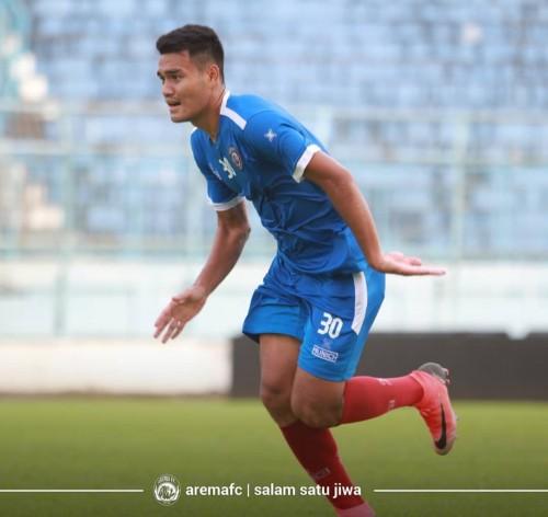 M Rafli, salah satu pemain muda di kubu Arema FC (official Arema FC)