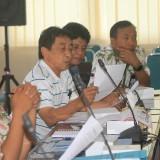 Edy Soesanto pemohon izin IMB saat menjelaskan di avara hearing dengan komisi 3 DPRD Kota Probolinggo  (Agus Salam/Jatim TIMES)