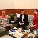 Bupati Kediri bersama wagub Jatim  bincang santai bahas pembangunan daerah. (ist)