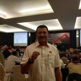 Ketua Umum KONI Kota Malang, Eddy Wahyono saat ditemui di tengah acara rakor (Hendra Saputra)