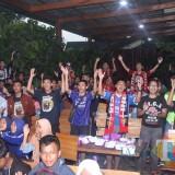 Keseruan Nobar AFF U22 Indonesia VS Malaysia di Kampung Coklat dalam rangka MRSF
