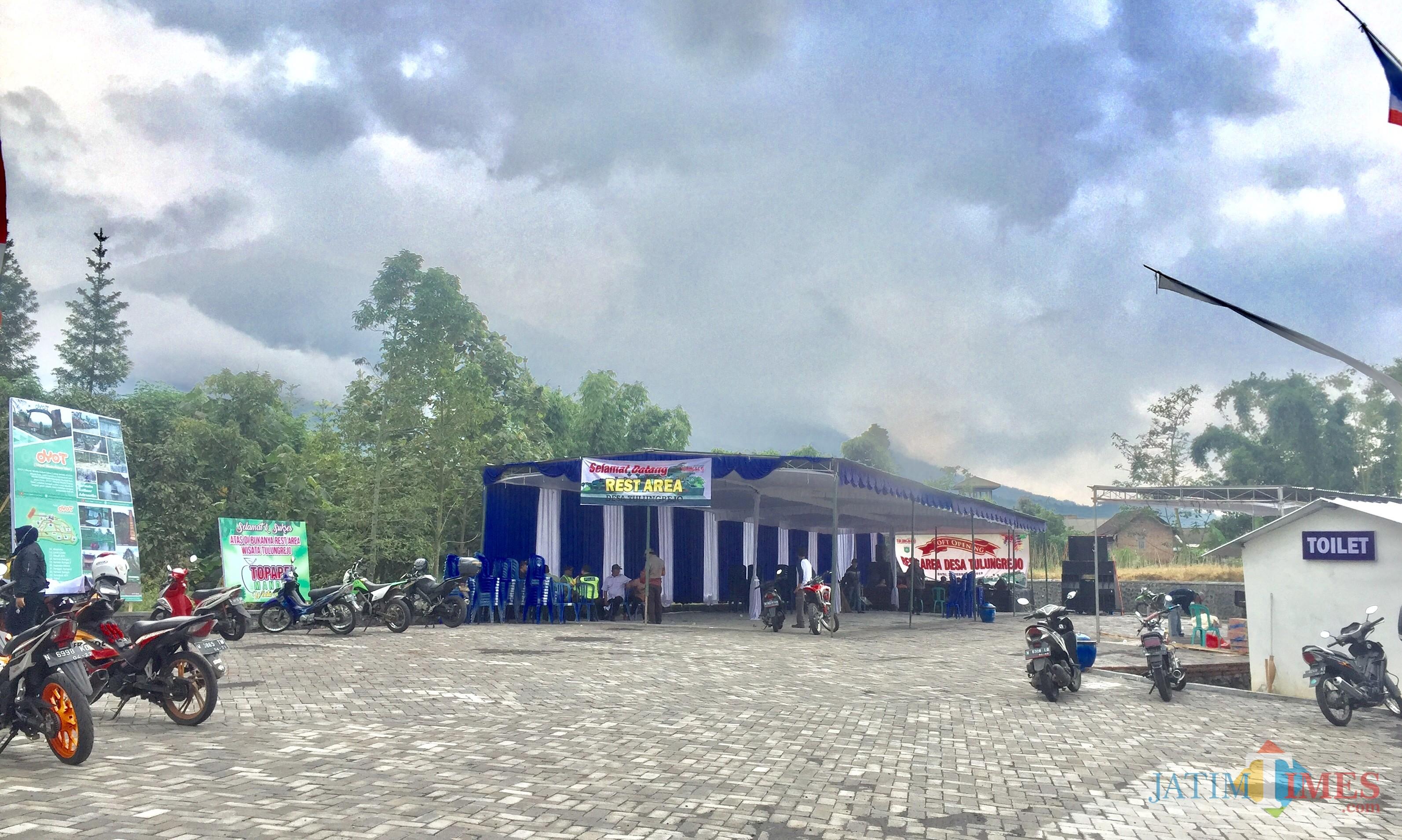 Area rest area di Dusun Gerdu, Desa Tulungrejo, Kecamatan Bumiaji. (Foto: Irsya Richa/MalangTIMES)