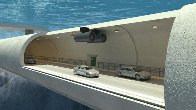 Tol bawah laut di Norwegia. (Foto: istimewa)