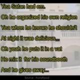 Penggalan lirik lagu populer di dunia yang diduga mengandung makna pemujaan setan (youtube)