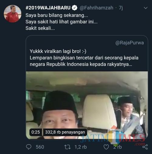 Screenshot komentar sakit hati Fahri Hamzah