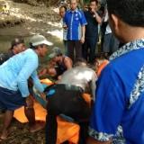Evakuasi buruh tani yang ditemukan tewas mengapung di sungai. (Foto: Istimewa)