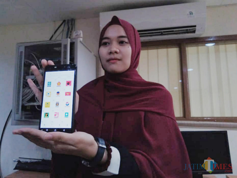 Aplikasi Info Caleg buatan mahasiswa Filkom UB (Foto: Imarotul Izzah/MalangTIMES)