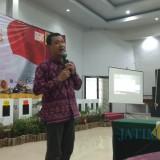 Komisioner KPU Kota Kediri Mochammad Wahyudi. (eko Arif s /JatimTimes)