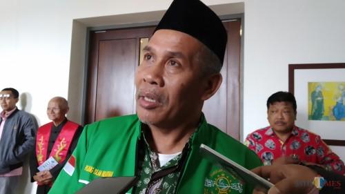 Ketua Tanfidziyah PWNU Jawa Timur KH Marzuki Mustamar. (Pipit Anggraeni/MalangTIMES).