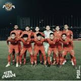 Skuat Timnas U-22 ketika akan menghadapi Thailand pada laga final Piala AFF Kamboja.(pssi_fai)