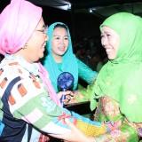 Gubernur Jatim Khofifah Indar Parawansa ketika menghadiri acara Munas-Konbes NU