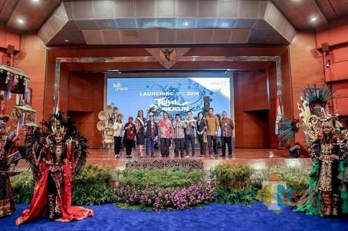 Suasana launching JFC 2019 di Balairung Sapta Pesona Kementerian Periwisata. (foto : istimewa / Jatim TIMES)