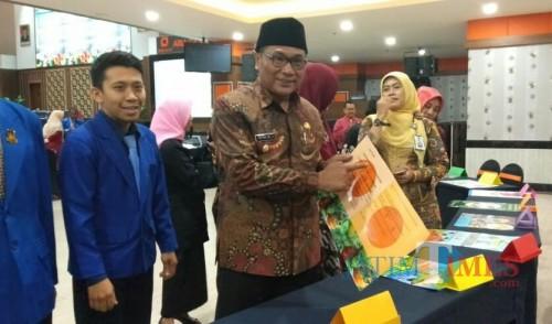 Wakil Wali Kota Malang Sofyan Edi Jarwoko di sela acara peringatan Hari Gizi Nasional. (Foto: Imarotul Izzah/Malang Times)