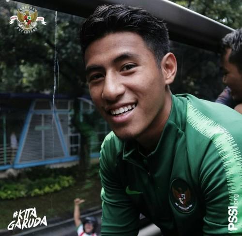 Gelandang Arema FC dan juga Timnas Indonesia U-22, Hanif Sjahbandi (pssi__fai)