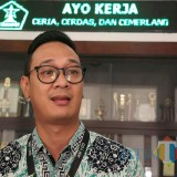 Regional Manager Government Relations Gojek, Boy Arno Muhamad saat ditemui di Balai Kota Malang. (Foto: Nurlayla Ratri/MalangTIMES)