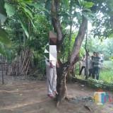 Posisi Suroso sebelum dievakuasi (Foto : Dokpol / TulungagungTIMES)