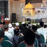 Wakil Bupati Jember Drs. KH> Abdul Muqit Arief saat memberikan sambutan di acara pembukaan seleksi Kafilah MTQ (foto : istimewa / JatimTIMES)