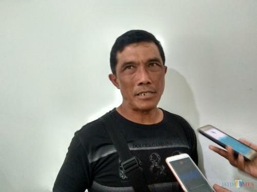 Pelatih kiper Arema FC Yanuar Hermansyah (Hendra Saputra)