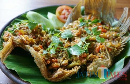 salah satu menu gurami di Warung Mbok Sri. (Foto: Ist)