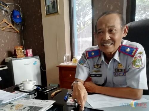Kepala Dishub Kabupaten Malang Hafi Lutfi menyampaikan terkait menghidupkan kembali FLLAJ (Nana)