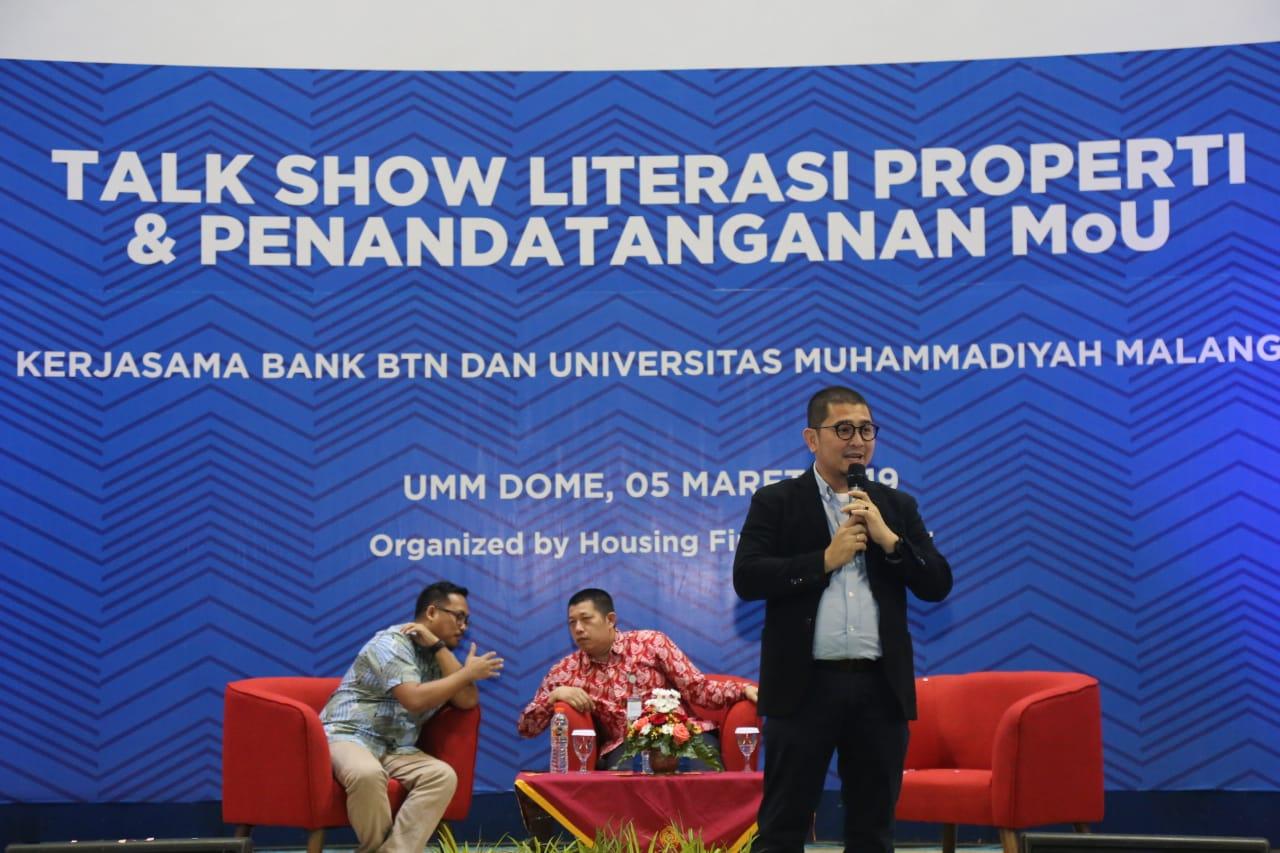 Presiden Direktur PT. Citra Kebon Mas, Deddy Indrasetiawan (memegang michrophone). (Foto: Rino/Humas)