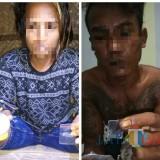 Dua pelaku, Amiri dan Mat Pelor diamankan di Polres Lumajang (Foto : Moch. R. Abdul Fatah / JatimTIMES)