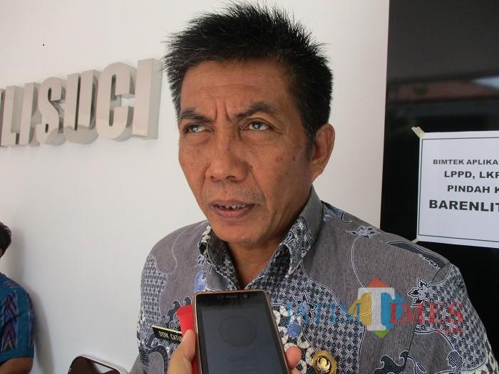 Kepala DKLHP Kota Kediri Didik Catur. (eko Arif s /JatimTIMES)