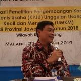 Kepala KPWBI Malang Azka Subhan saat menyampaikan paparan di hadapan awak media. (Foto: Nurlayla Ratri/MalangTIMES)