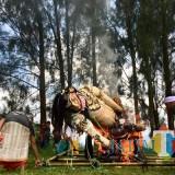 Mengenal Ogoh-ogoh, Simbolisasi Energi Negatif Bhuta Kala yang Dibakar Jelang Nyepi