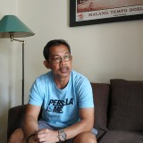 Pelatih kepala Persela Lamongan Aji Santoso. (Hendra Saputra)
