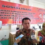 Koordinator Divisi Pengawasan dan Sosialisasi Badan Pengawas Pemilu (Bawaslu) Provinsi Jawa Timur, Aang Kunaifi.(Foto : Team BlitarTIMES)