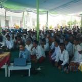 Motivator Nasional, Aqua Dwipayana memberikan motivasi kepada warga binaan Lapas Banyuwangi