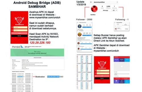 APK Sambhar, salah satu aplikasi yang disebut menjadi pusat buzzer yang berkaitan dengan pihak kepolisian (@opposite6890)