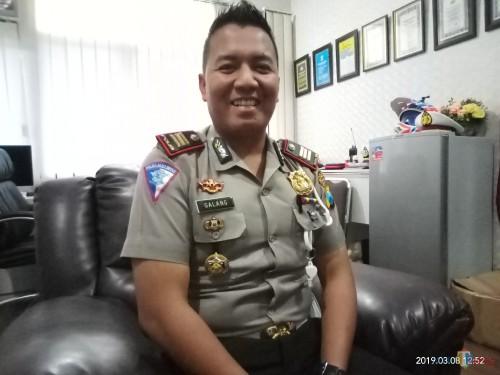 Kasat Lantas Polres Malang Kota AKP Ari Galang Saputro (foto: Anggara Sudiongko/MalangTIMES)