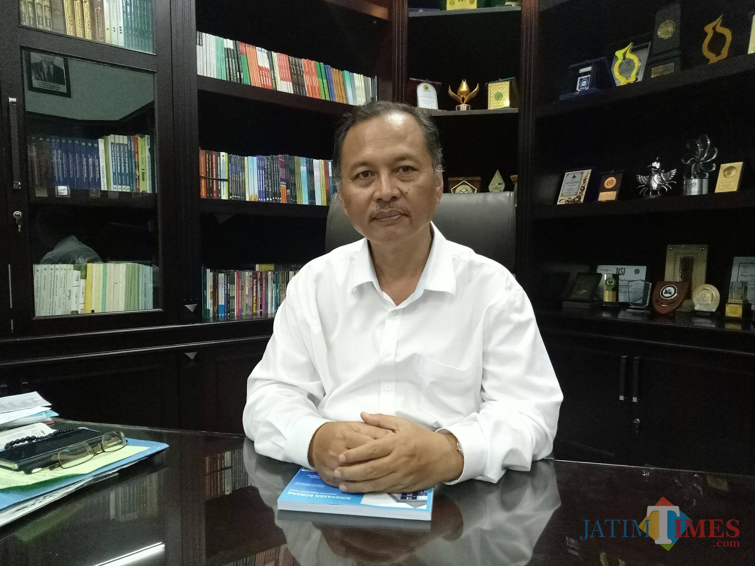 Rektor UIN Maulana Malik Ibrahim Prof. Dr. Abdul Haris, M.Ag (Foto: Imarotul Izzah/MalangTIMES)