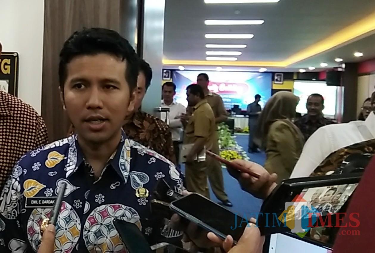 Wakil Gubernur Jawa Timur Emil Elestianto Dardak saat hadir di Kota Malang. (Foto: Nurlayla Ratri/MalangTIMES)