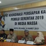 Kegiatan sosialisasi aturan kampanye terbuka melalui media massa yang diselenggarakan KPU Kota Malang. (Foto: Nurlayla Ratri/MalangTIMES)
