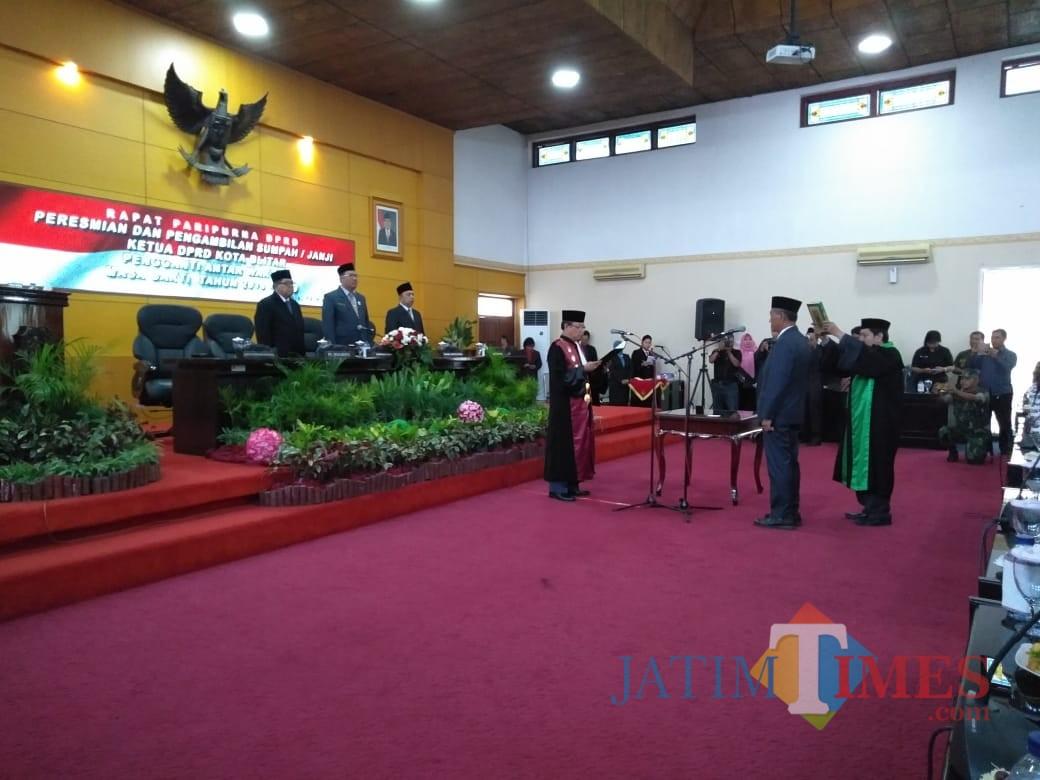 Pelantikan Said Novandi sebagai ketua DPRD Kota Blitar.(Foto : Team BlitarTIMES)