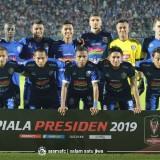 Tim Arema FC ketika akan menghadapi Barito Putera di Piala Presiden 2019 (official Arema FC)