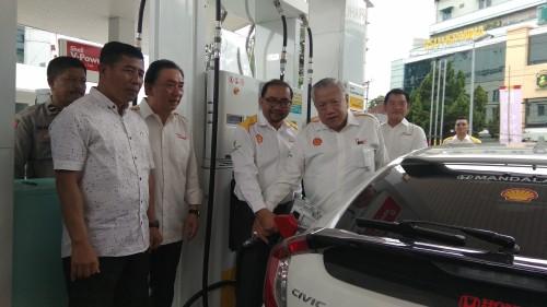 Peresmian SPBU Shell Indonesia di Jalan Kawi, Kota Malang. (Foto: Nurlayla Ratri/MalangTIMES)