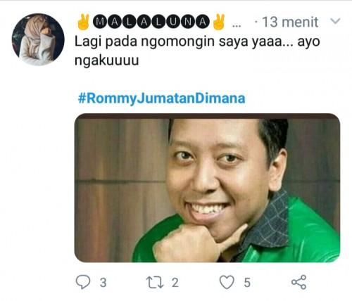 Dikabarkan tertangkap OTT KPK, #RommyJumatanDimana ramai di twitter (@twitter).