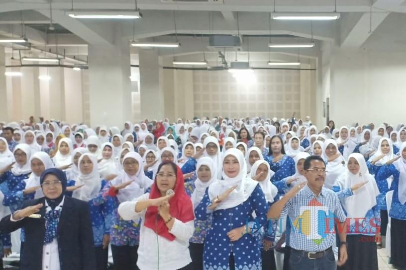 Eva Sundari saat menyampaikan nilai-nilai Pancasila harus diintegrasikan di kurikulum PAUD dan TK (Foto: Dok Eva Sundari)