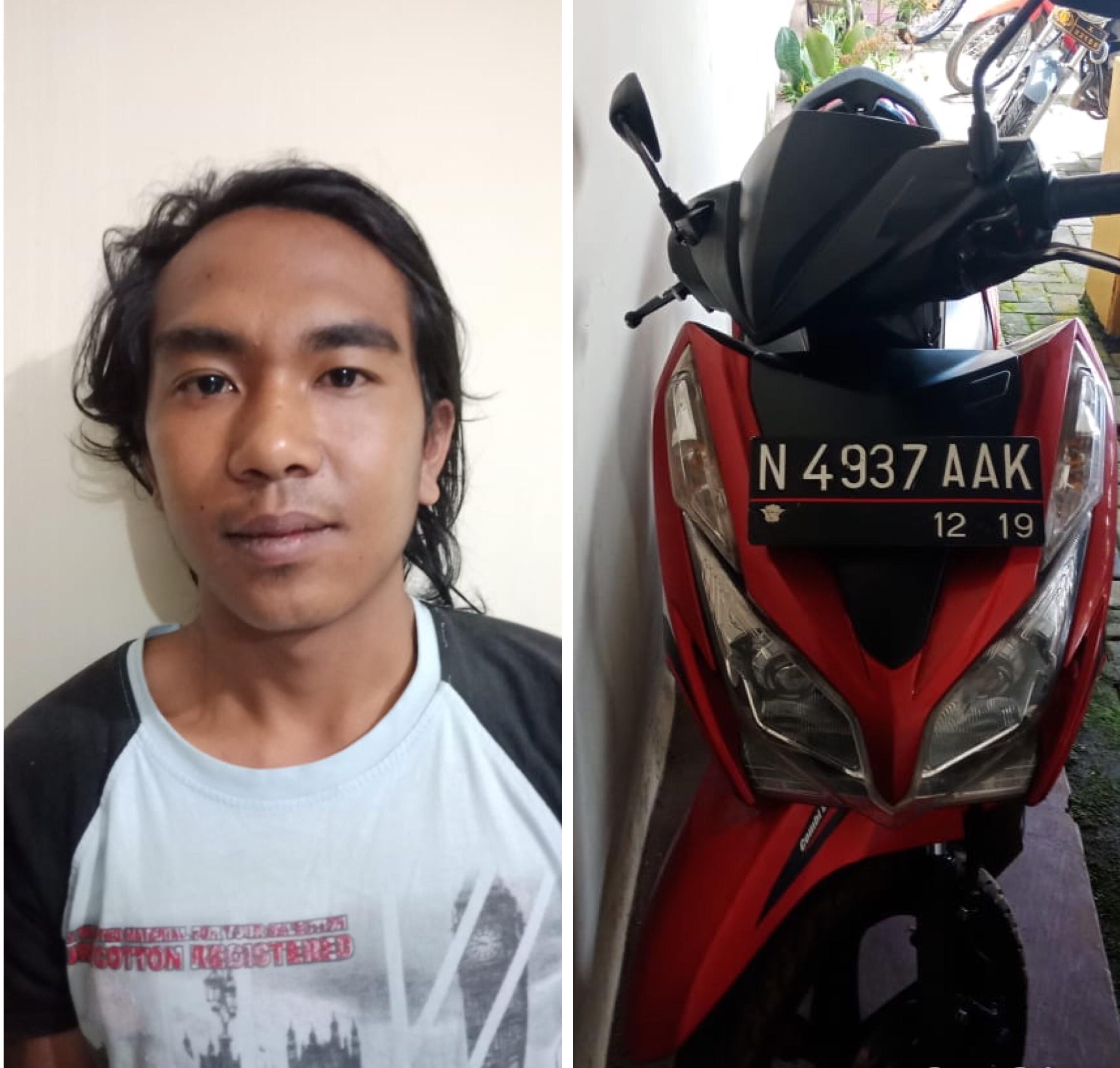 Muhammad Safi�i beserta barang bukti hasil pencurian saat diamankan polisi, Kecamatan Jabung (Foto : Humas Polres Malang For MalangTIMES)
